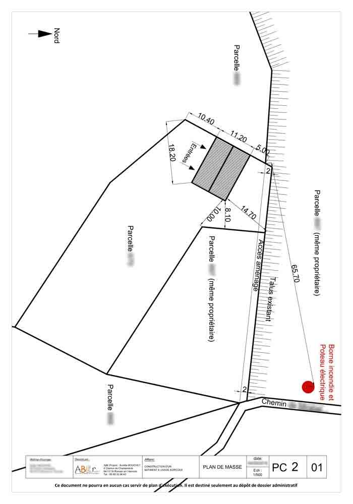 Plan de masse hangar agricole st romain en viennois