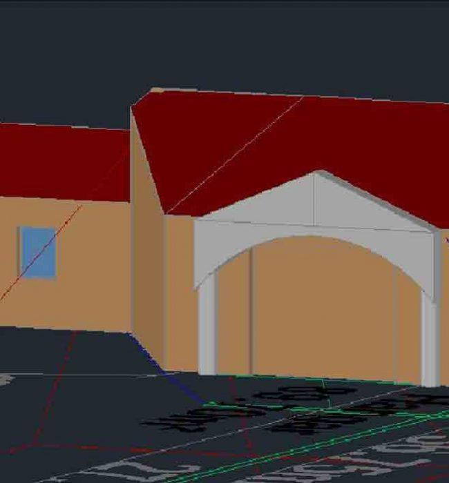 vue 3D Permis de Construire Rasteau