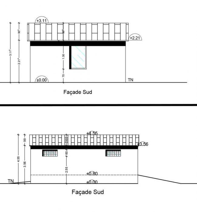 façade sud Permis de Construire Agricole Crestet