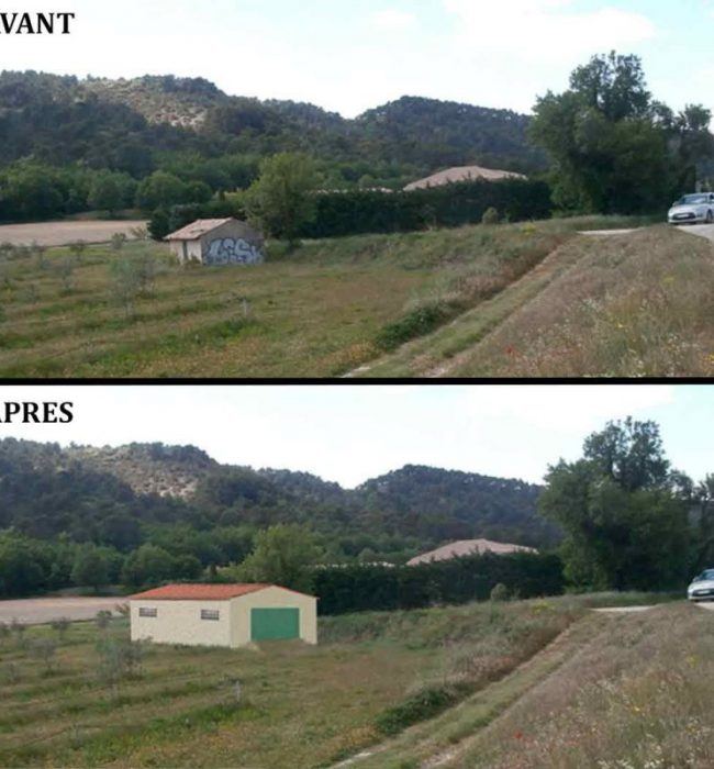 insertion paysagère Permis de Construire Agricole Crestet