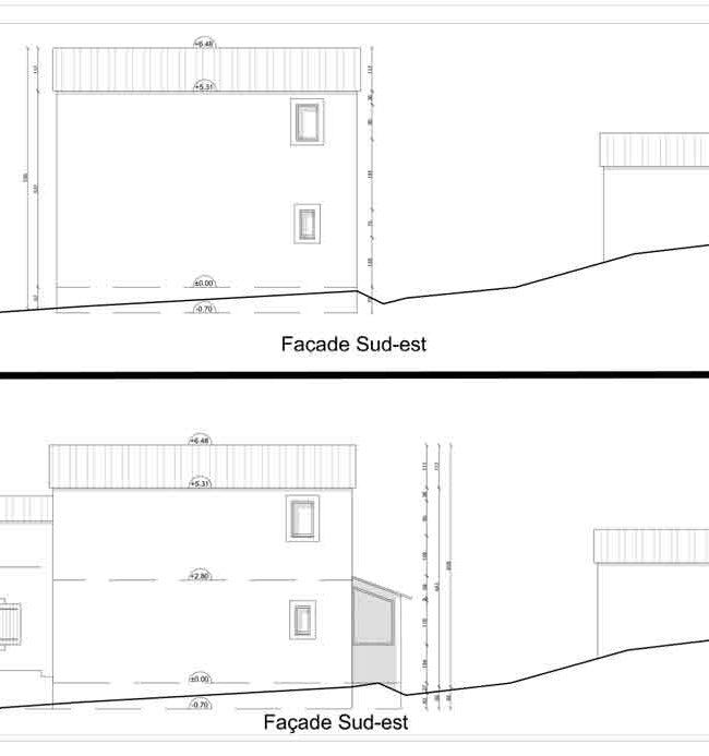 préalable Malaucène extension façade est Déclaration
