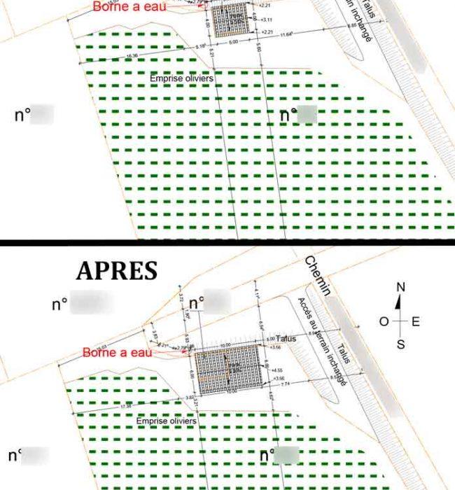 plan de masse Permis de Construire Agricole Crestet