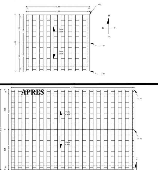 Plan de toiture Permis de Construire Agricole Crestet