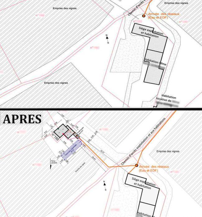plan de masse Puymeras permis de construire agricole Puymeras