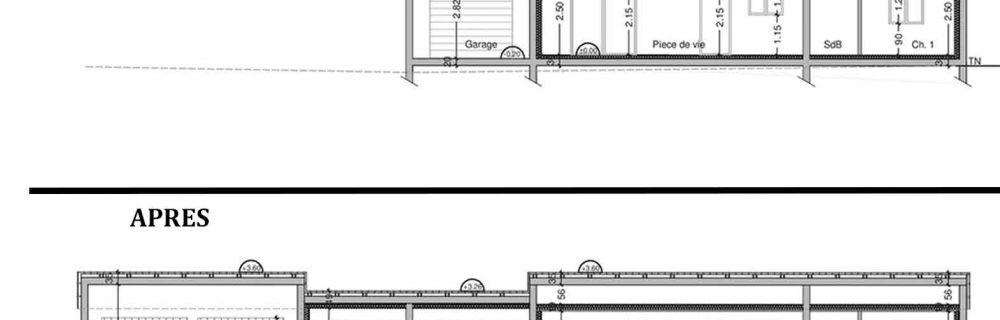 Déclaration Préalable St Roman de Malegarde Extension et Garage
