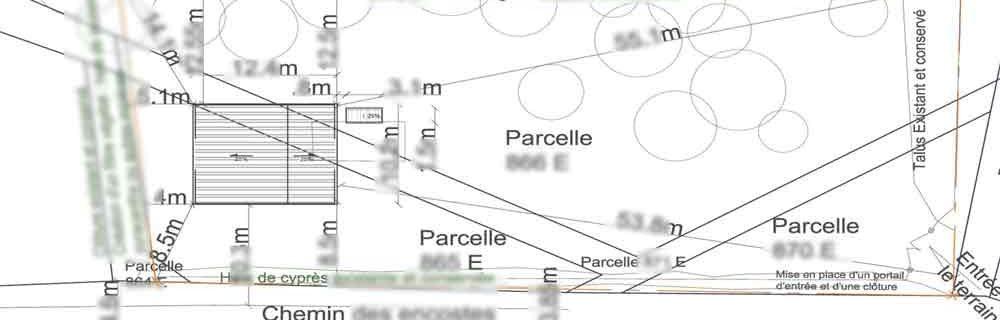 Permis de Construire Agricole hangar Rasteau 113m²