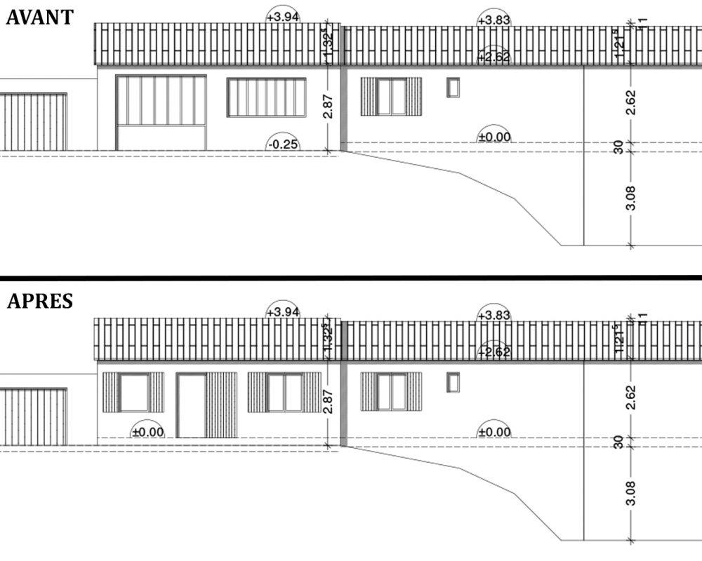 Permis Construire Changement Destination hangar en habitation St Romain