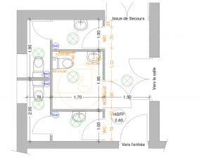 accessible handicapé de sanitaires St Romain en Viennois