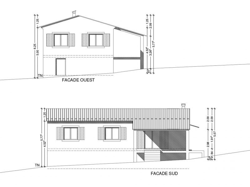 Conception maison à Faucon 88m2