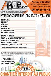 panneau affichage permis construire Vaucluse
