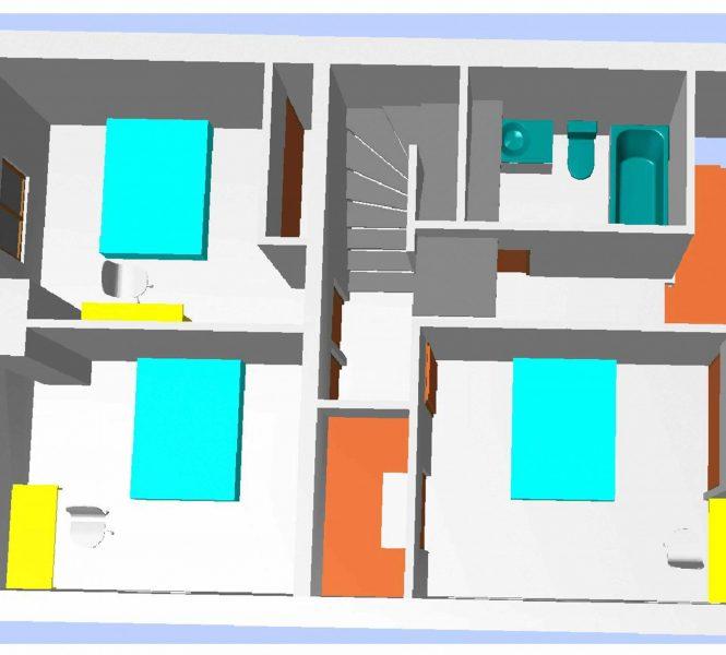 plan d'aménagement changement de destination plan 3D