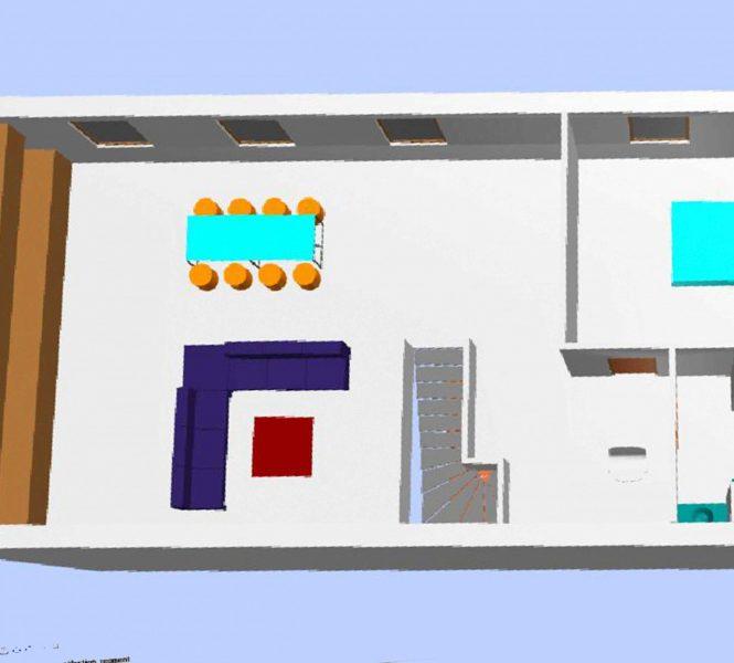 Aménagement 3D plan 3D 2eme etage