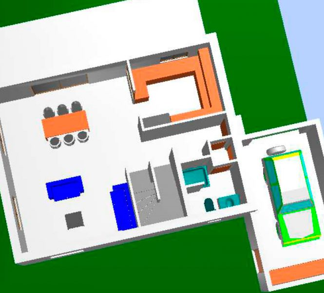 Plan 3D Permis de construire lotissement Chatauneuf de Gadagne