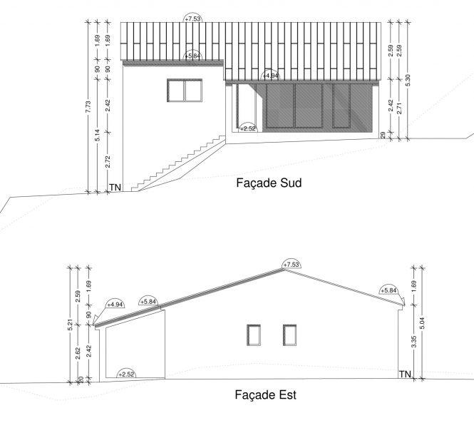 Façade Permis de construire à Nyons maison individuelle