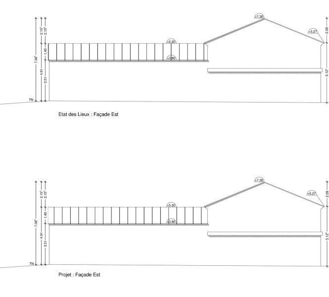plan de façade PCMI 5 création de chambre d'hôtes