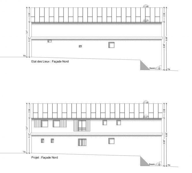 facade du permis de construire création de chambre d'hôtes