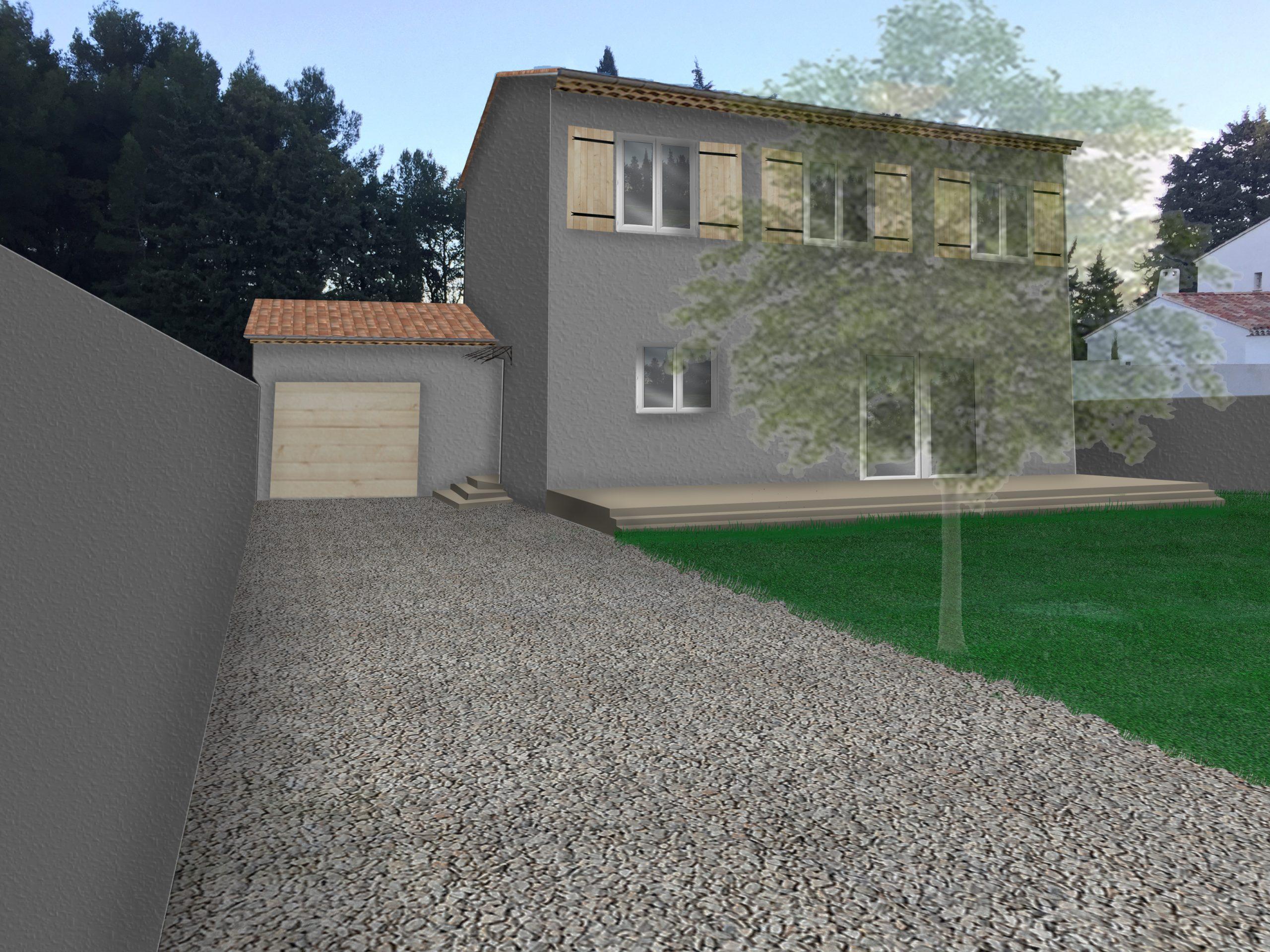 Photomontage Permis de construire lotissement Chatauneuf de Gadagne