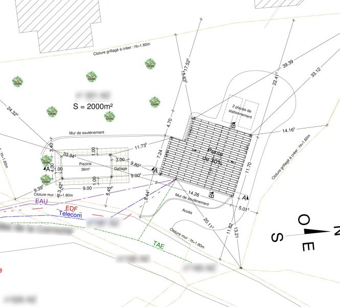 plan de masse Permis de construire à Nyons maison individuelle