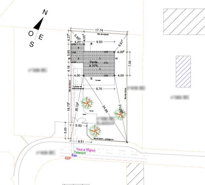 plan de masse Permis de construire lotissement Chatauneuf de Gadagne