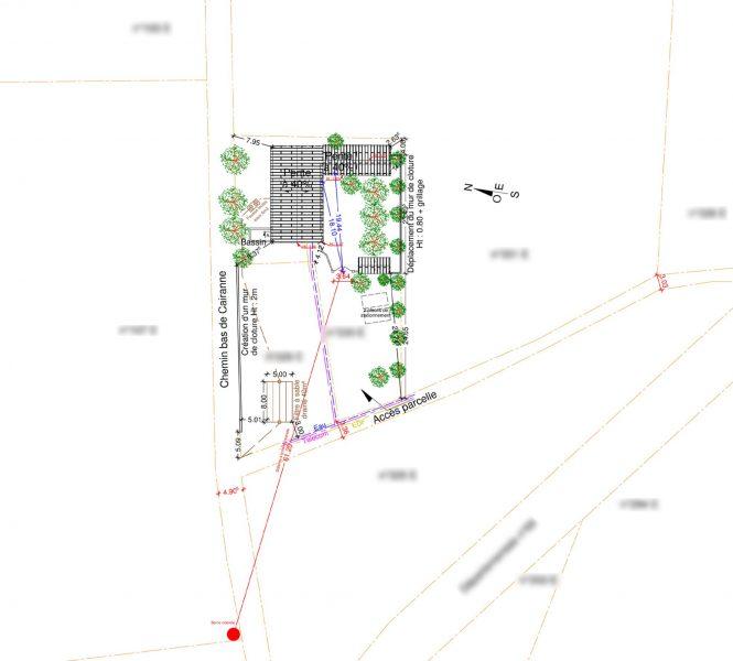 plan de masse création de chambre d'hôtes