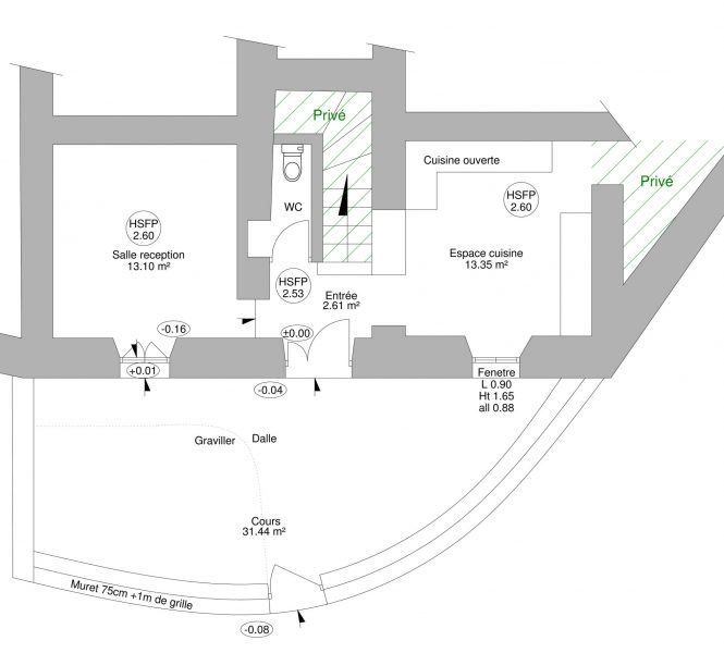 plan dossier mise aux normes sécurité incendie et Accessibilité handicapé d'un caveau de vente Vaucluse