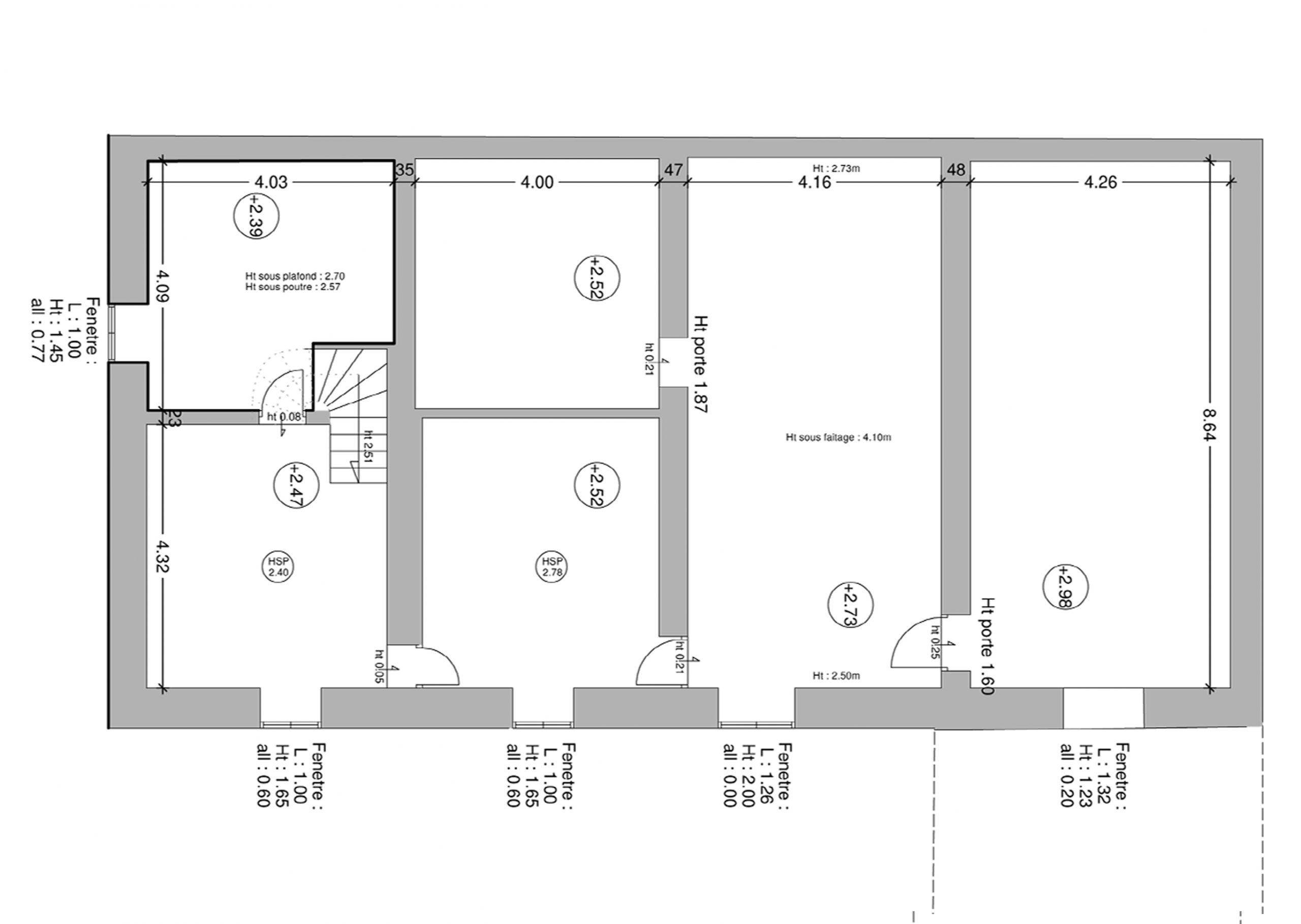 plan état des lieux création de chambre d'hôtes