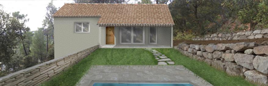 insertion paysagere Permis de construire à Nyons maison individuelle