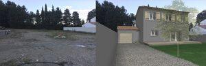 projet Permis de construire lotissement Chatauneuf de Gadagne