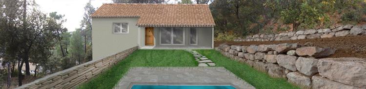 Projet insertion paysagère Permis de construire à Nyons maison individuelle