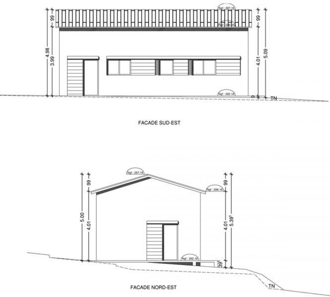 Permis de construire maison d'artiste evolutive à Entrechaux