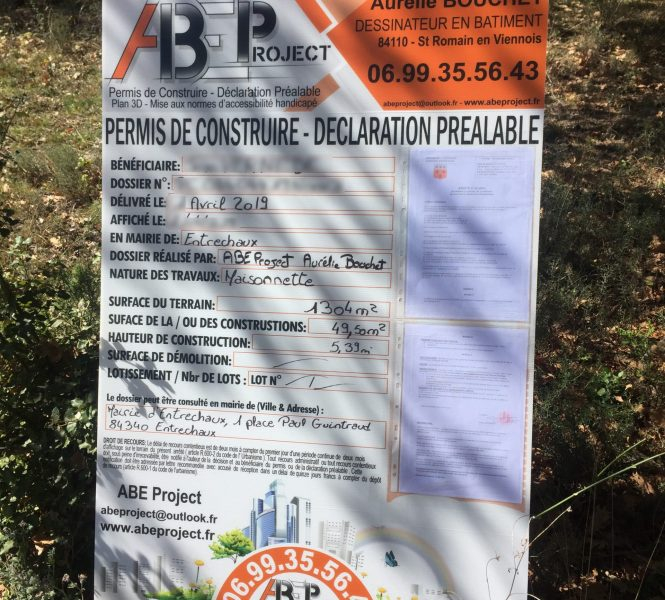 affichage permis de construire