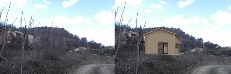 Permis de construire maison d'artiste modulable à Entrechaux