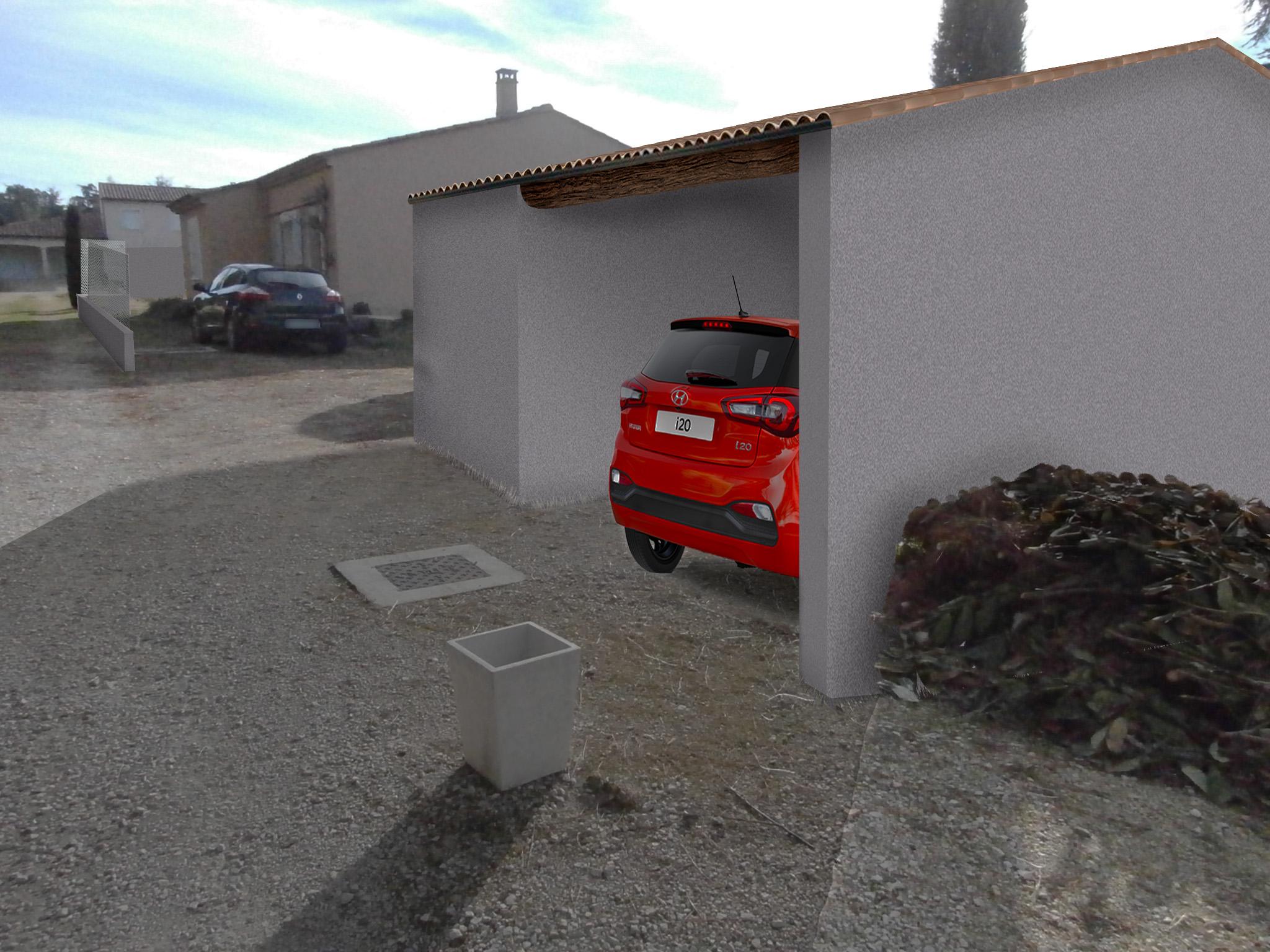 Permis de construire garage Vaison la Romaine