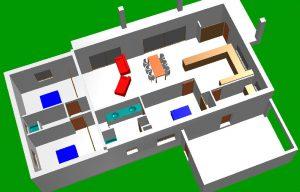 Plan 3D drome permis de construire Mirabel aux baronnies
