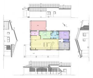 plan intérieur 2D permis de construire maison individuelle