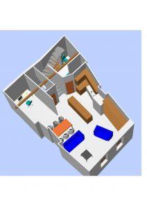 plan 3D aménagement duplex