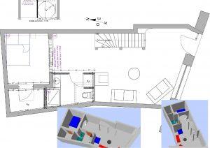 Aménagement intérieur maison de village
