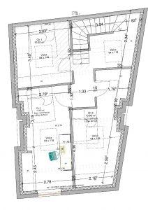 plan 2D aménagement de combles