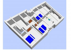 plan 3D Diviser une maison en appartements Nyons