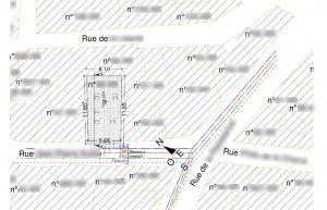 plan de masse projet Diviser une maison en appartements Nyons