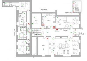plan sécurité incendie hôtel rez de chaussée