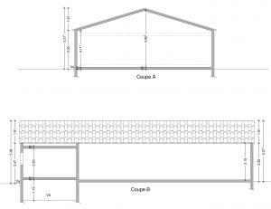 plan de coupe hangar agricole