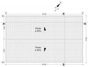 plan de toiture permis de construire hangar