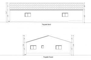 plan de façade hangar agricole