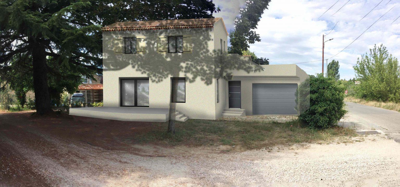 insertion paysagère permis de construire pour une maison bois