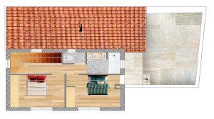 plan étage permis de construire pour une maison bois Vaison la romaine