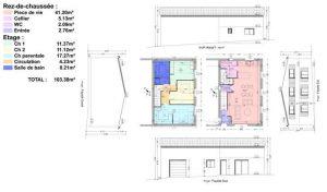 plan de niveaux et façades permis de construire