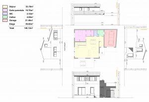 plan de maison structure bois permis de construire Vaucluse