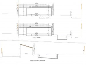 plan de coupe projet piscine