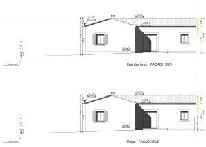 plan de façade création poolhouse